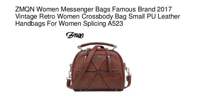 f4eda0537238 ZMQN Women Messenger Bags Famous Brand 2017 Vintage Retro Women Crossbody  Bag Small PU Leather Handbags ...