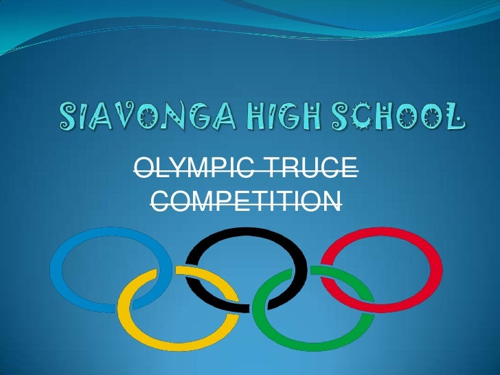 OLYMPIC TRUCE COMPETITION
