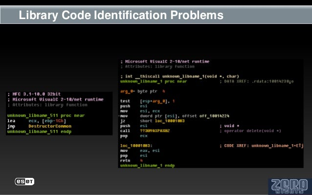 Library Code Identification Problems