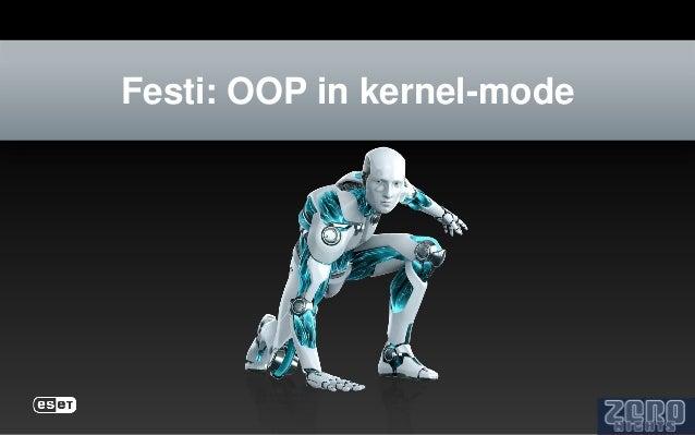 Festi: OOP in kernel-mode
