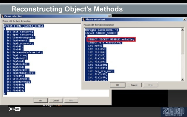 Reconstructing Object's Methods