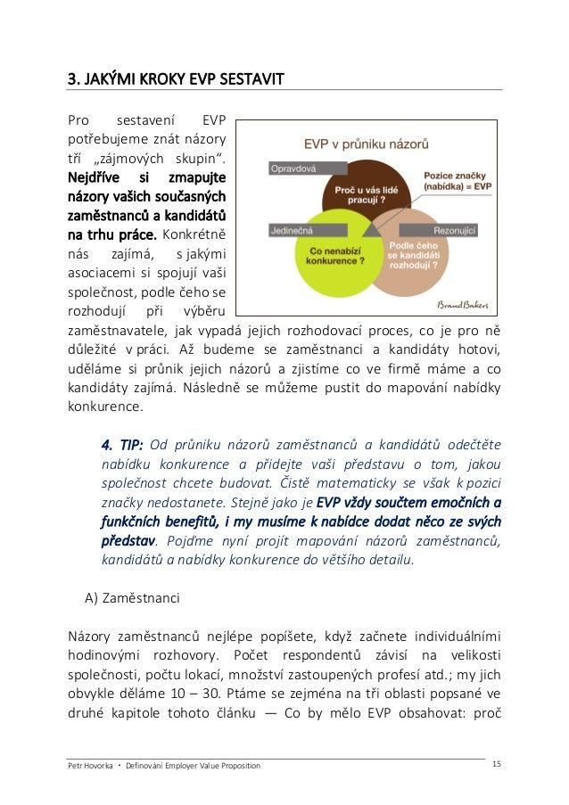 Petr Hovorka ・ Definování Employer Value Proposition 16 společnost existuje?, jakou má společnost firemní kulturu? co spol...