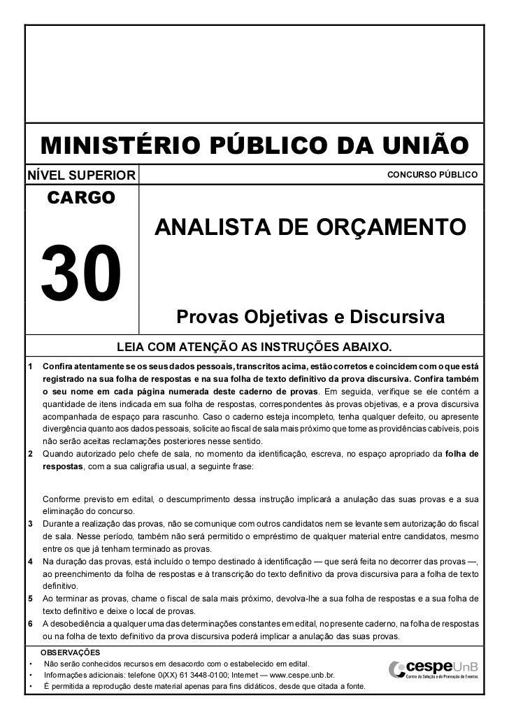 MINISTÉRIO PÚBLICO DA UNIÃONÍVEL SUPERIOR                                                                                 ...