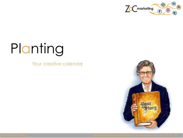 Planting Your creative calendar  Content Marketing  Broad Marketing Experience From Someone You Can Trust 34