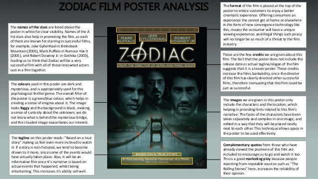 an analysis of the book and the movie zodiac Thanks for watching     gone girl fincher 20th.