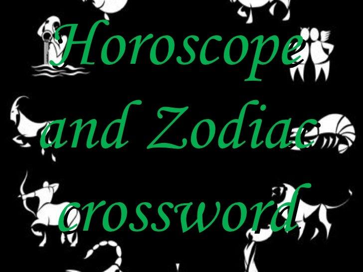 Horoscopeand Zodiac crossword