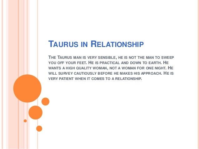 A taurus man in love signs