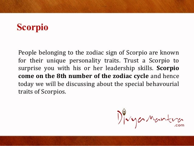 what is a scorpio known for