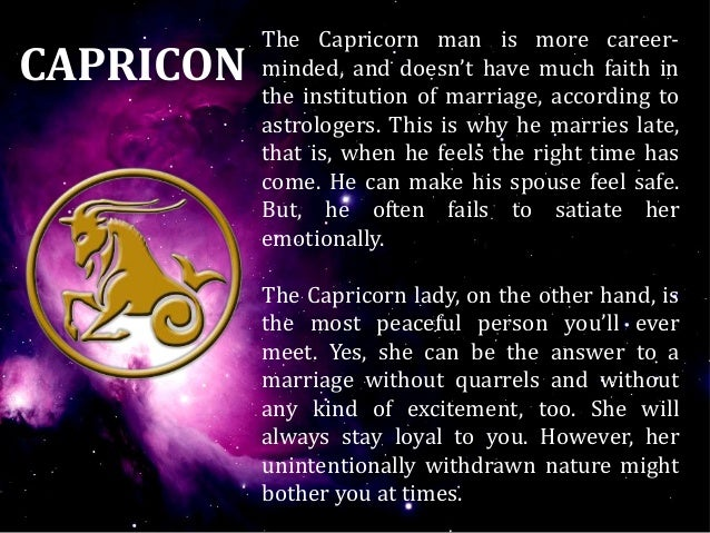 Capricorn man and virgo woman marriage