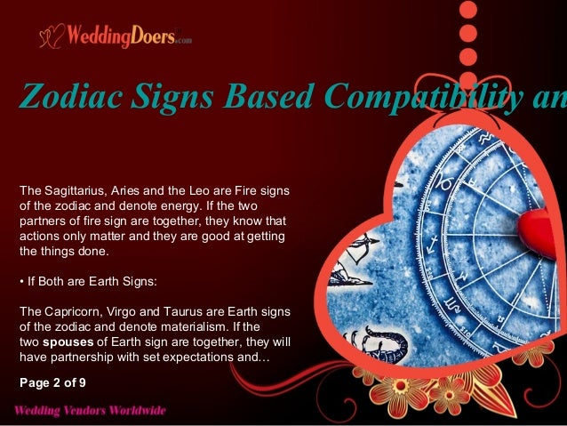 Water and earth signs compatibility