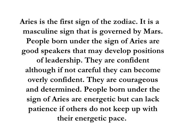 ariess horoscope meaning