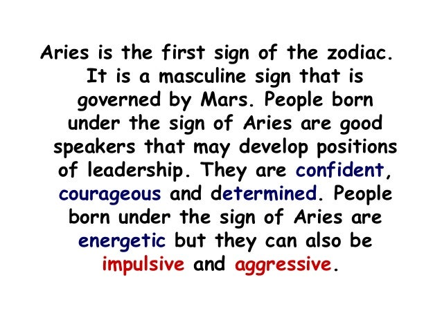 Astrology Aries March 21 - April 19
