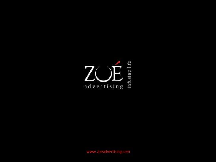 Zoe advertising profile presentation
