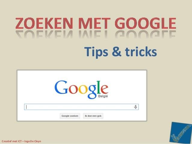 Creatief met ICT – Inge De Cleyn Tips & tricks