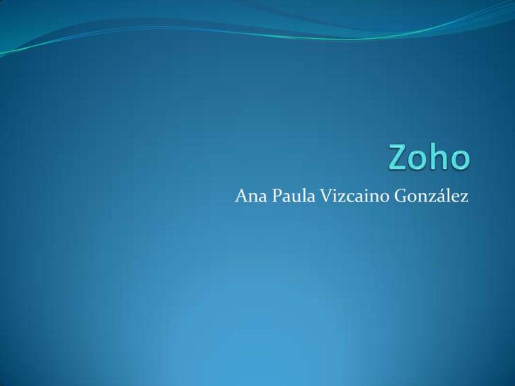Zoho<br />Ana Paula Vizcaino González<br />