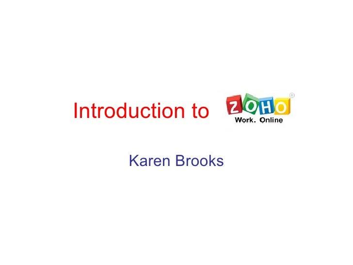 Introduction to Karen Brooks