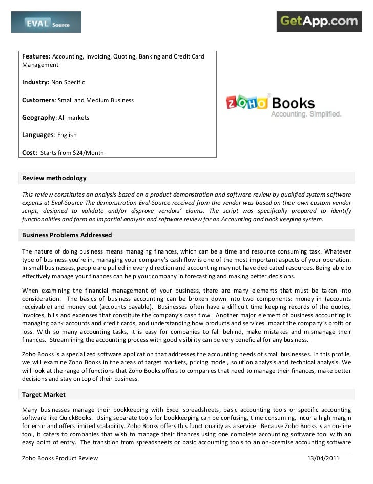 zoho books review