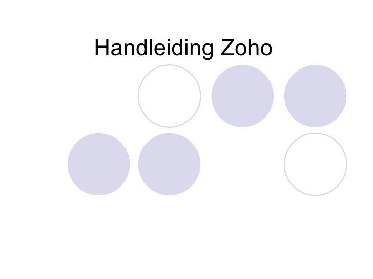 Handleiding Zoho