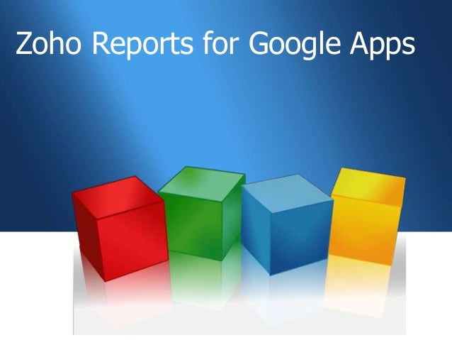 Zoho Reports for Google Apps