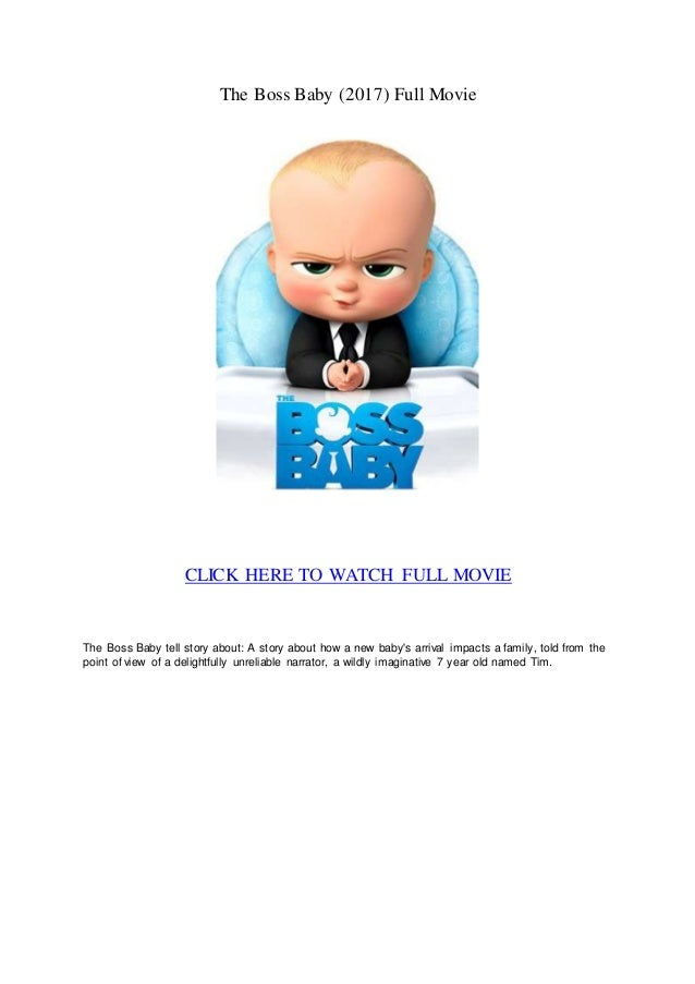 The Boss Baby Full Movie Online Download Free