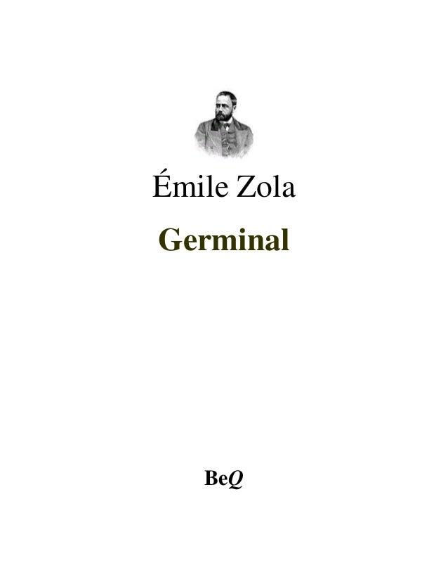 Émile ZolaGerminal   BeQ