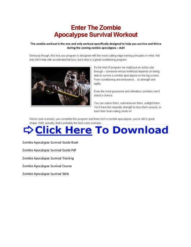 Can You Survive The Zombie Apocalypse Pdf