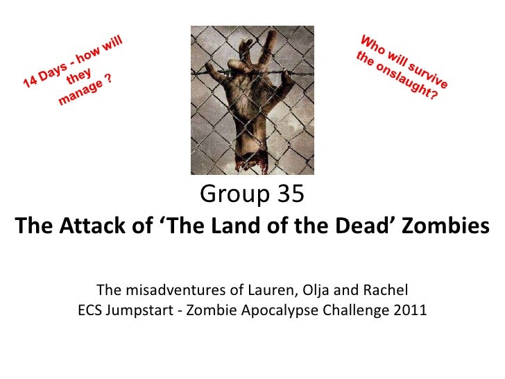Who will survive the onslaught?<br />14 Days - how will they <br />manage ? <br />Group 35The Attack of 'The Land of the D...
