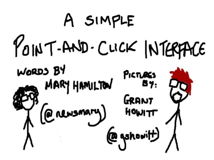 A simple point and click interface