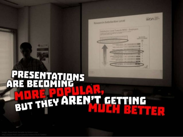 Presentations are becoming more popular, but they aren't getting much better