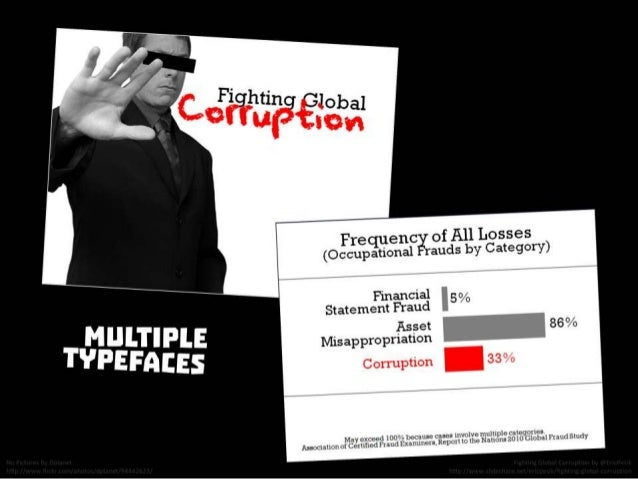 Multiple typefaces. From Fighting Global Corruption by @EricPesik http://www.slideshare.net/ericpesik/fighting-global-corr...