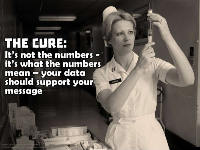The Cure: It's not the numbers - it's what the numbers mean - your data should support your message