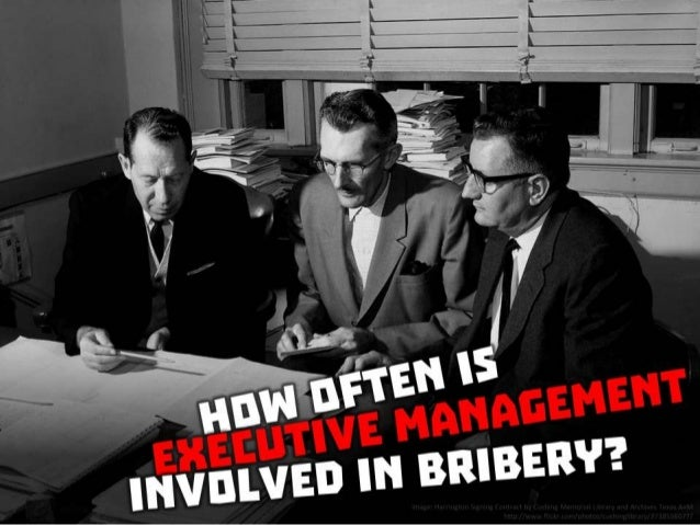 How often is executive management involved in bribery?