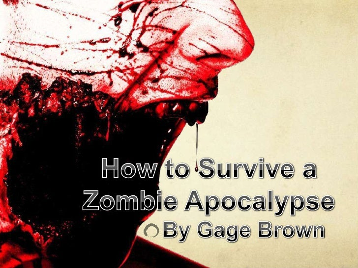Zombie presentation how to survive a zombie apocalypsebr by toneelgroepblik