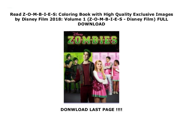 620+ Disney Zombies Coloring Book Free