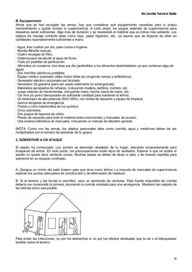 Zombie survival guide traducci n for Silenciador cisterna