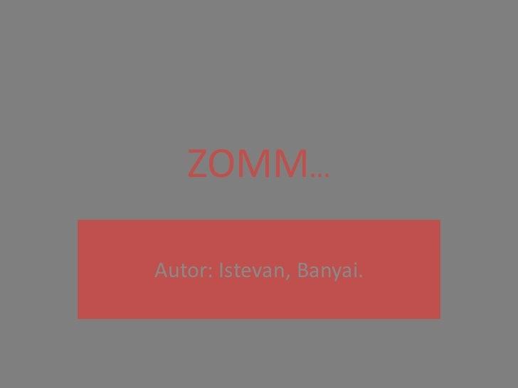 ZOMM…Autor: Istevan, Banyai.