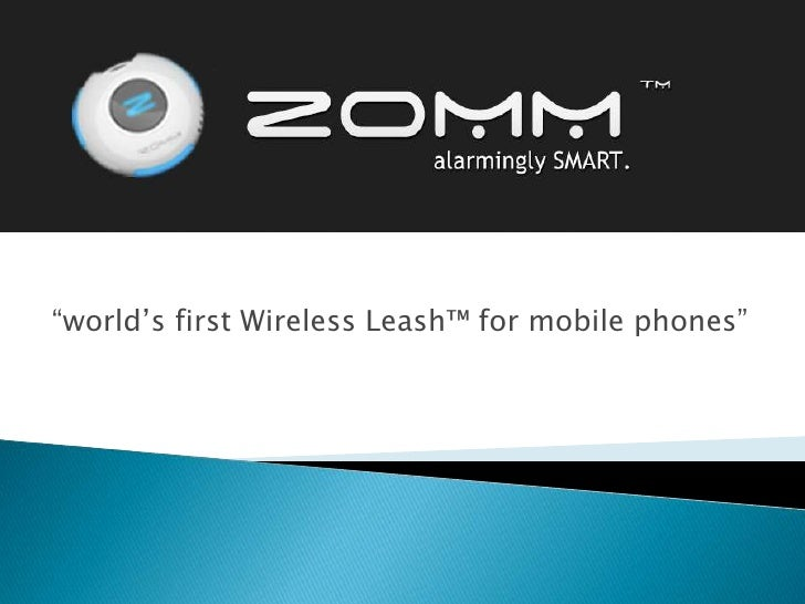 """world's first Wireless Leash™ for mobile phones""<br />"