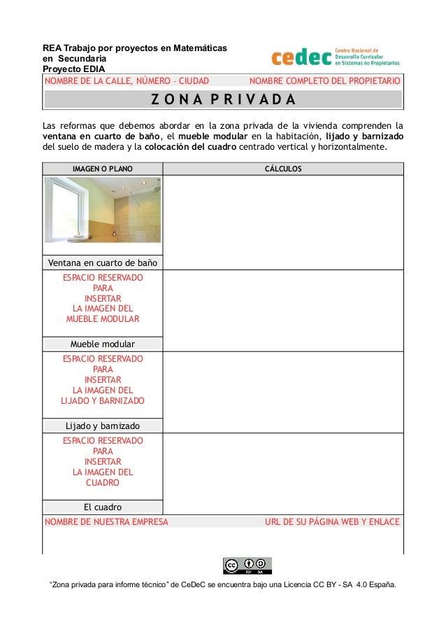 REA Trabajo por proyectos en Matemáticas en Secundaria Proyecto EDIA NOMBRE DE LA CALLE, NÚMERO – CIUDAD NOMBRE COMPLETO D...