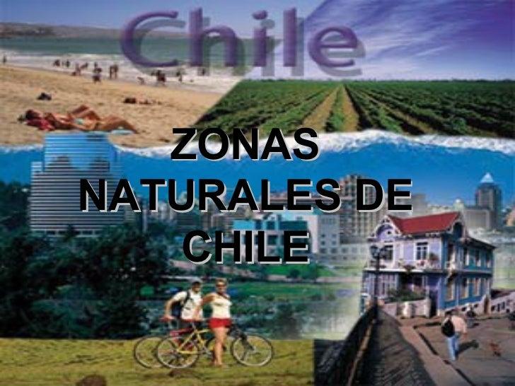 ZONASNATURALES DE    CHILE