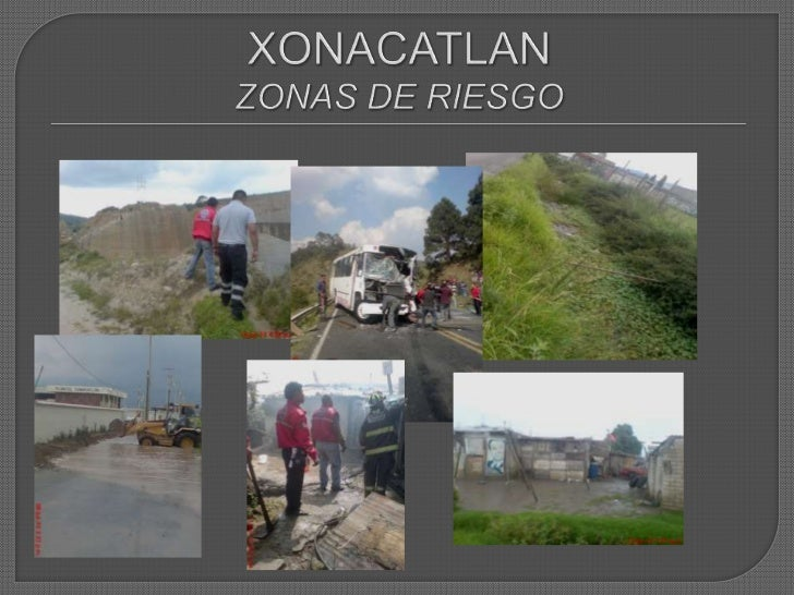 XONACATLANZONAS DE RIESGO<br />