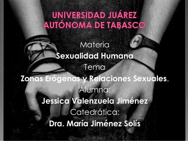 Materia         Sexualidad Humana                TemaZonas Erógenas y Relaciones Sexuales.              Alumna:     Jessic...