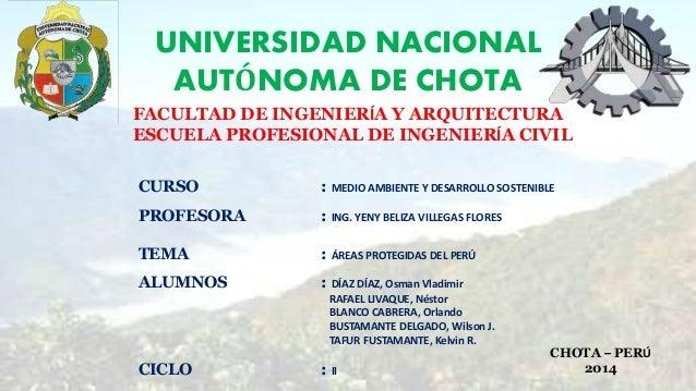 UNIVERSIDAD NACIONAL AUTÓNOMA DE CHOTA FACULTAD DE INGENIERÍA Y ARQUITECTURA ESCUELA PROFESIONAL DE INGENIERÍA CIVIL CURSO...