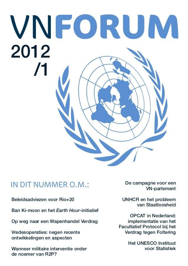 2012  /1                                              De campagne voor een                                                ...