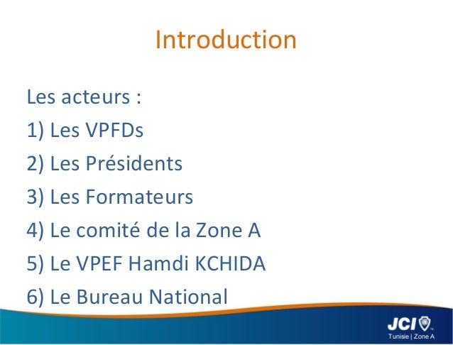 Rapport de formation de jci tunisie zone a 2012 - Bureau de service national du lieu de recensement ...