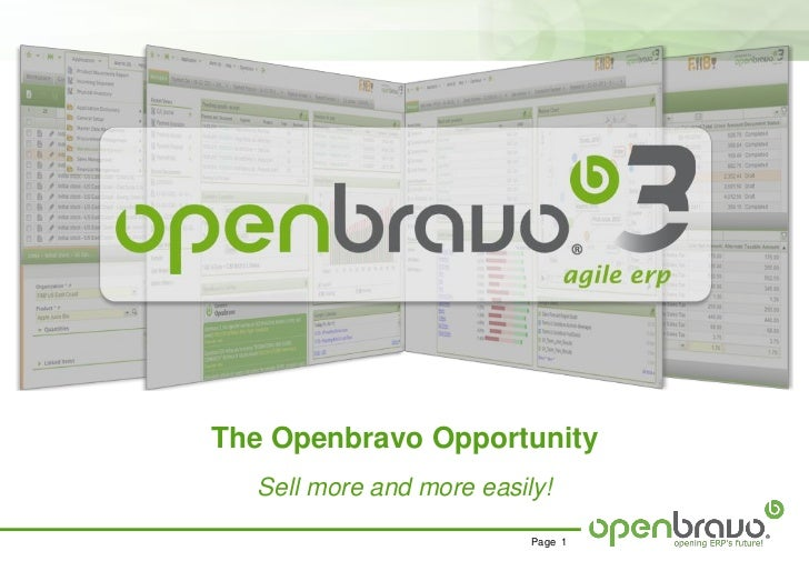 The Openbravo Opportunity  Sell more and more easily!                          Page 1