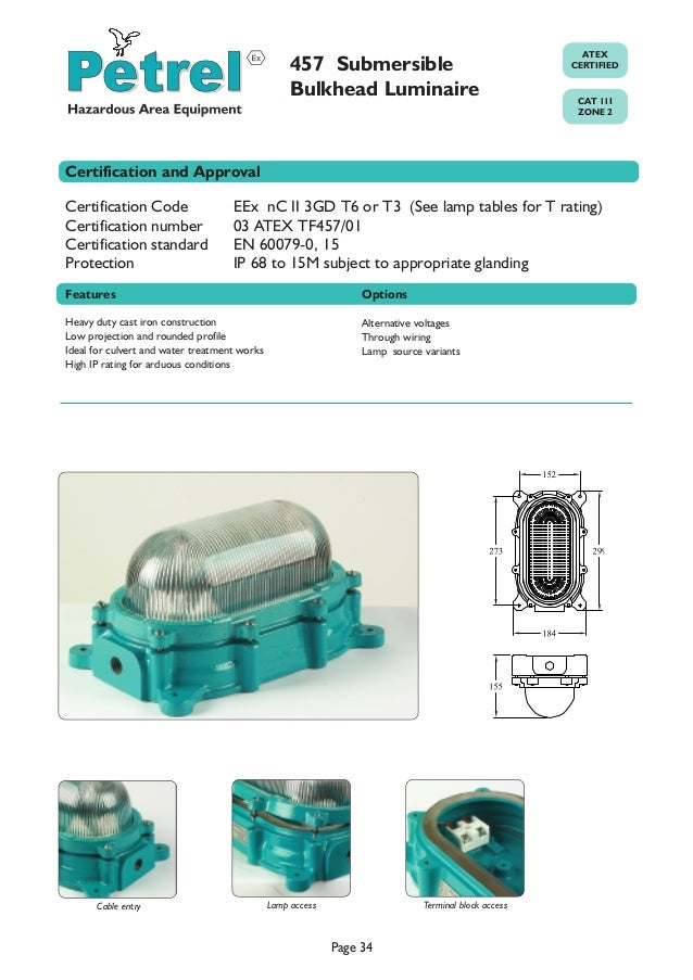 zone 2 hazardous area lighting atex explosion proof lighting pe rh slideshare net Explosion Proof Electrical Boxes Explosion Proof Electrical Boxes
