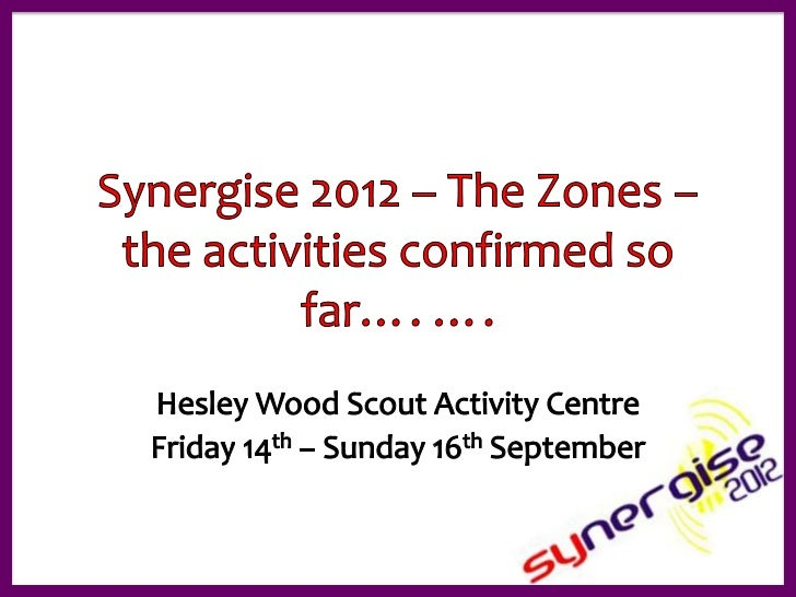 Zone presentations synergise 2 activities