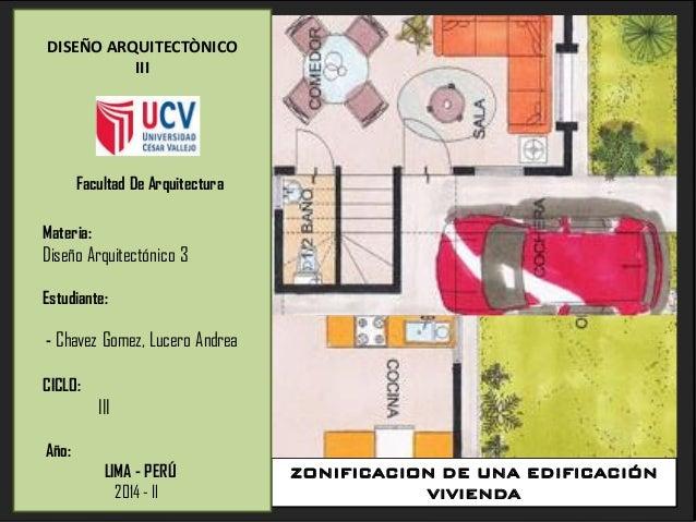Zonificaci N De Una Vivienda Arquitectura Edificaci N