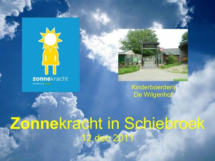 Zonne kracht inSchiebroek 12 dec 2011 Kinderboerderij De Wilgenhof