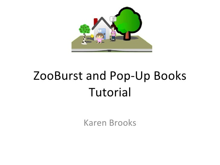 Zoo burst and pop up books
